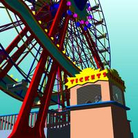 3ds max ferris wheel