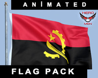 Angola Flag Animated
