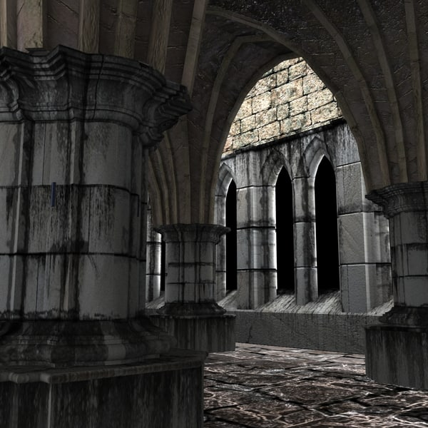 3ds church 1 - Gothic Set 1... by Blackraven Studios