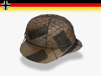 3d wwii german helmet