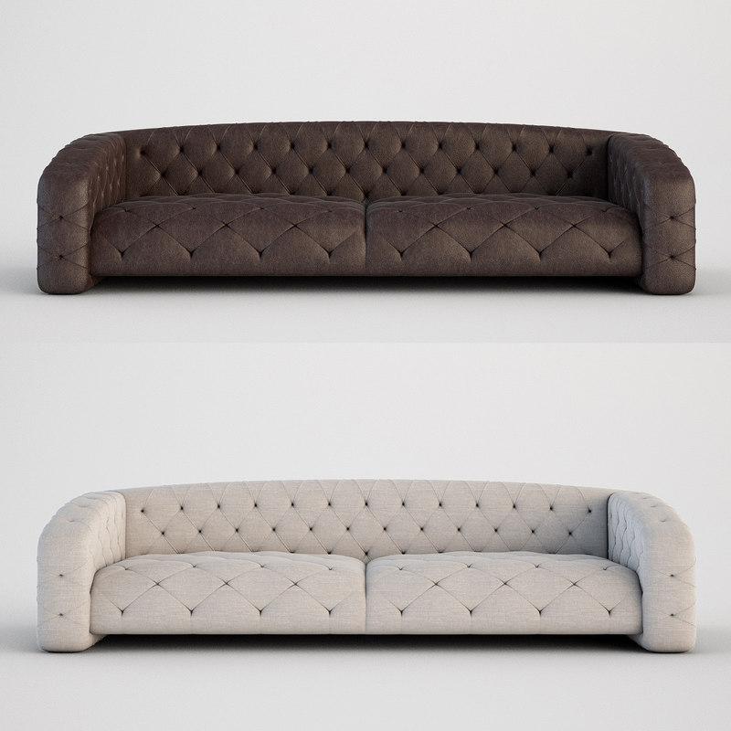 3d Italian Sofa Luxury Model