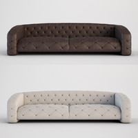 3d italian sofa luxury model