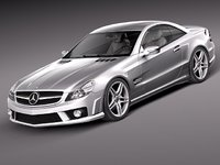 3d model of mercedes sl 65 amg