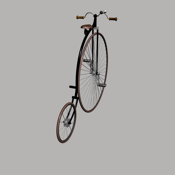 wheel bicycle 3ds - Penny Farthing Bicycle... by Blackraven Studios