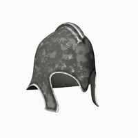 3d model iron helmet