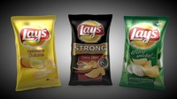 potato chips 3d c4d