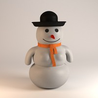 3d model snow man woman
