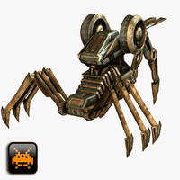 sci-fi attack droid 3d model