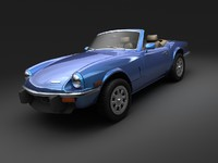 vehicle triumph spitfire mk4 3d max