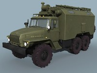 3d model of ural-43203 command vehicle