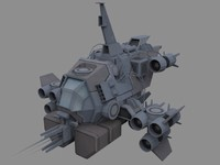 3d vandal modular fighter model