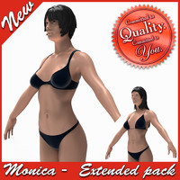 3d model monica female anatomy