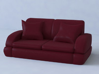 3d leather sofa couch model