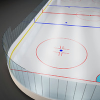 3ds max ice hockey field