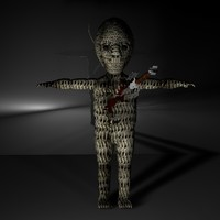 3d scary doll model