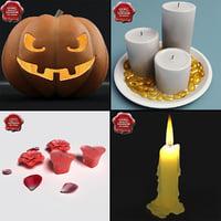 3d model candles v1