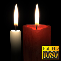 3d candle hd video flame model