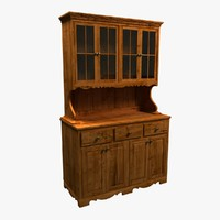 3d model hutch cabinet