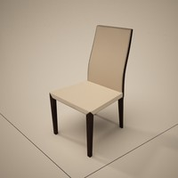 cattelan italia lady dining chair 3d 3ds