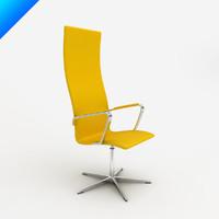 oxford chair design arne jacobsen obj