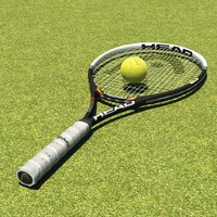 3d head tennis racket model