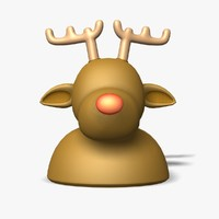3dsmax reindeer rudolf statue figure