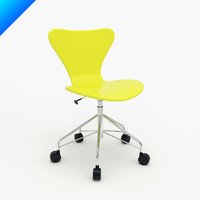 Arne Jacobsen Series 7 Swivel Side Chair