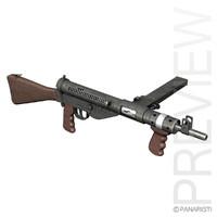 3d sten mk v gun model