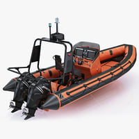 3ds max inflatable lifeboat zodiac engine