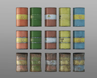 Oil barrels (15 versions)