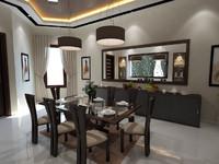3dsmax dining room