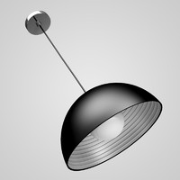 CGAxis Black Hanging Lamp 03