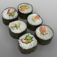 3d model maki sushi