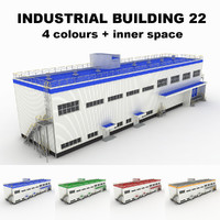 medium industrial building 22 3d model