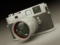 leica m9-p camera lens 3d model