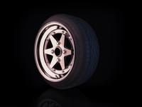 SSR Longchamp XR4 rim stretched tyre