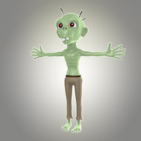 cartoon zombie 3d model