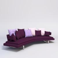 3d arne sofa b model