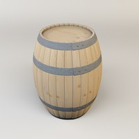 3ds max wine barrel