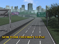 New York Freeway Scene