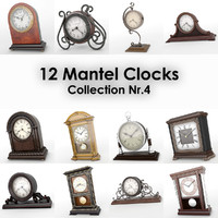 12 mantel clocks 3d max
