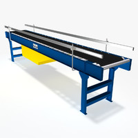 belt roller conveyor 12 3d model