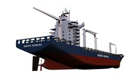 3ds max container vessel