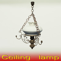 3d model of classic lamp interior