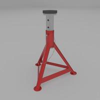 3d flat jackstand model