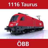 3d model taurus train engine Öbb