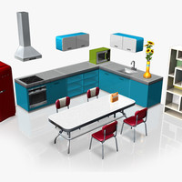 kitchen retro collection 3DGM
