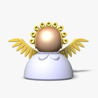 3d model angel icon figure