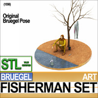 Bruegel Fisherman Scene Stl Printable