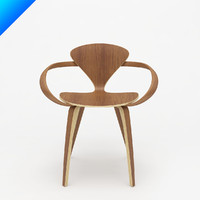 3d model cherner arm chair norman